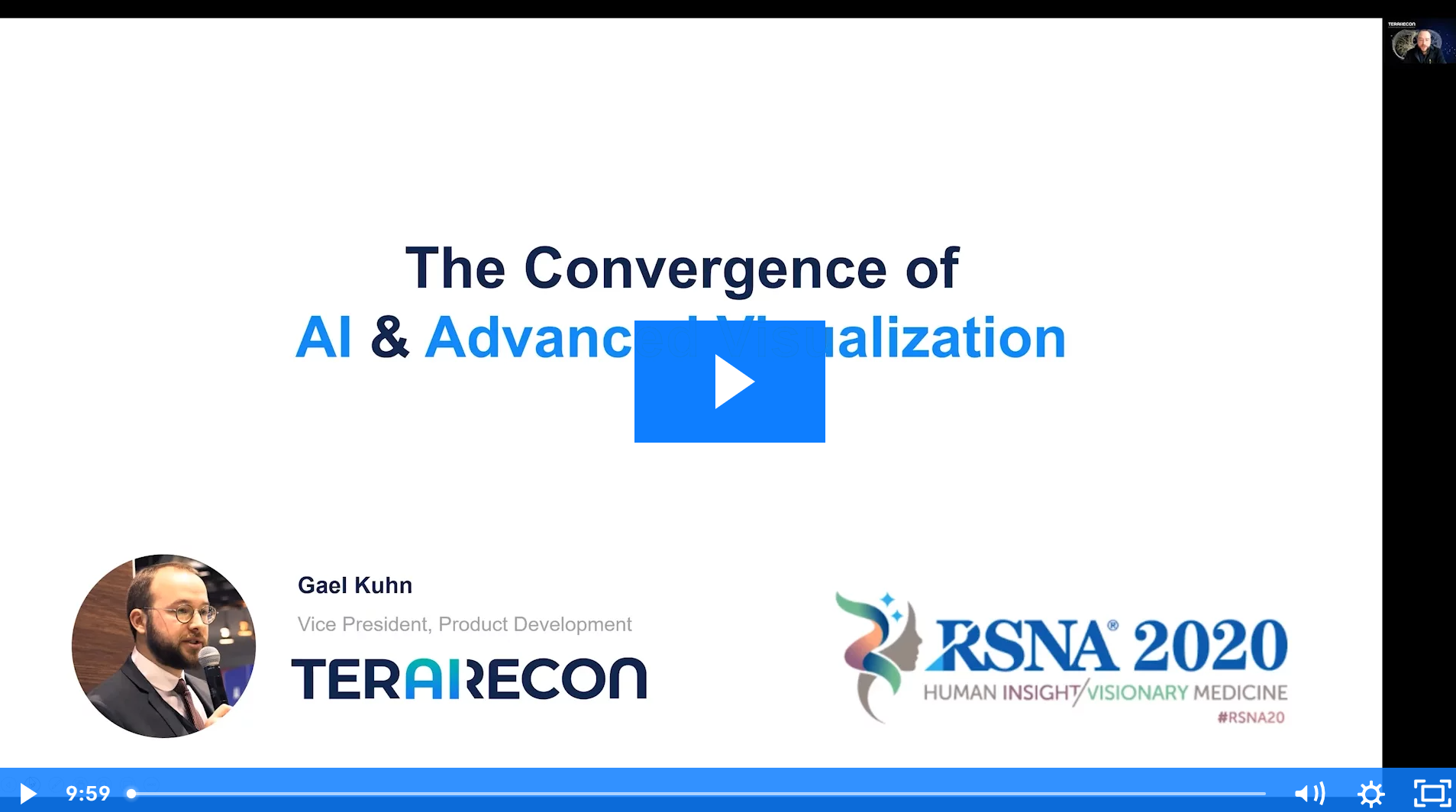 Innovation theatre presentation The Convergence of AI and Advanced Visualization