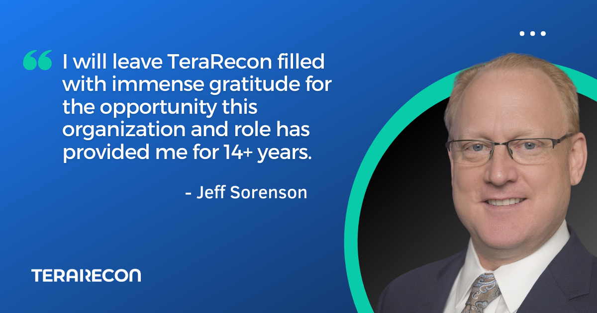 TeraRecon CEO Jeff Sorenson To Depart, Dr. Romesh Wadhwani To Serve As Interim CEO